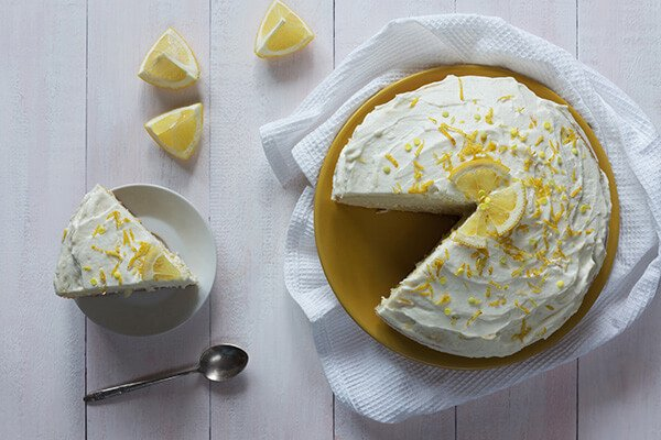 Бисквитный лимонный торт в мультиварке