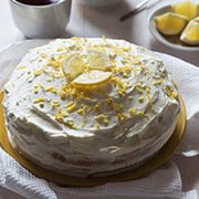 Лимонный бисквитный торт