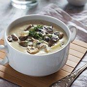 Крем-суп из шампиньонов со сливкам