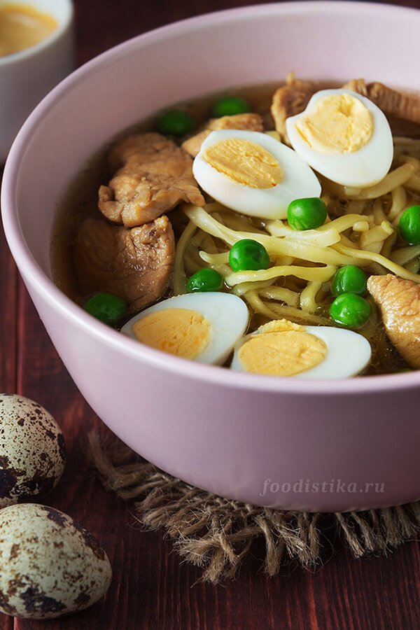 Рамен - Куриный суп с лапшой