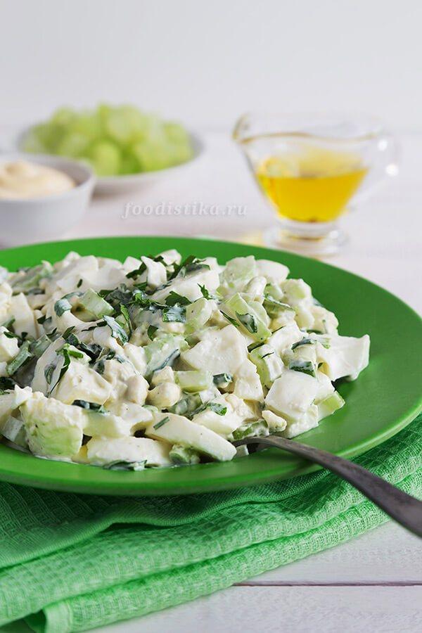 Салат с яйцом и сельдереем