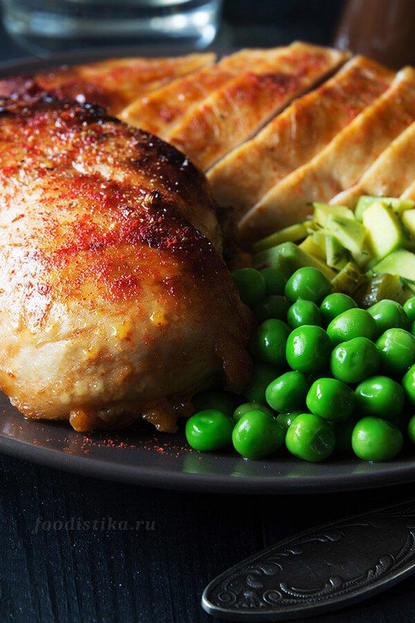 Запеченное куриное филе в остро-сладком соусе