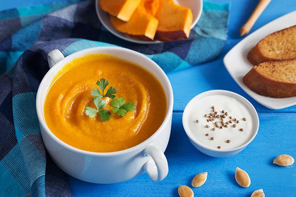 Вегетарианский тыквенный крем-суп