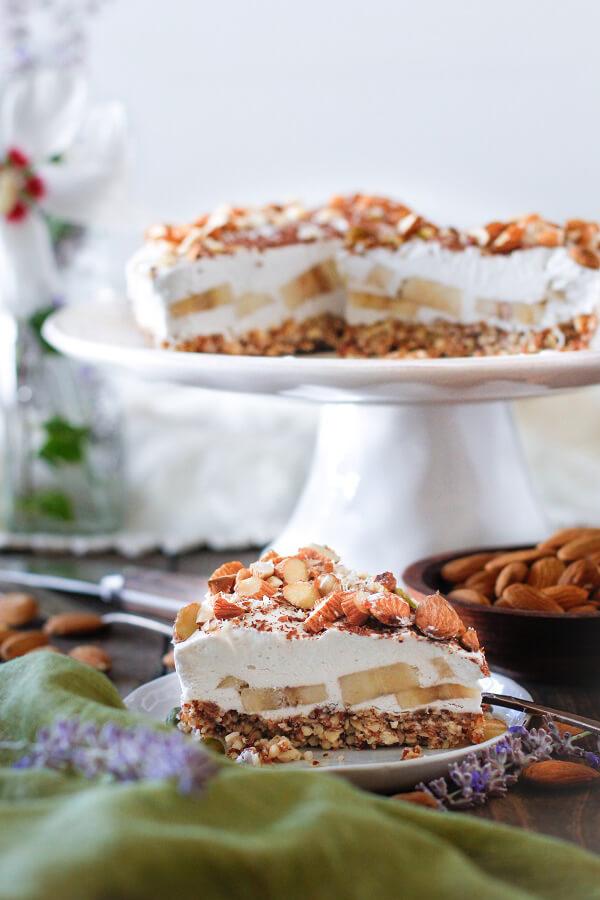 Банановый торт без выпечки - рецепт с фото пошагово