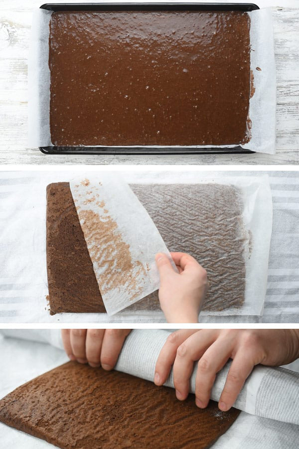 Шоколадный рулет со сливочным сыром - рецепт с фото пошагово